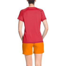 VAUDE Hallett II t-shirt Dames rood